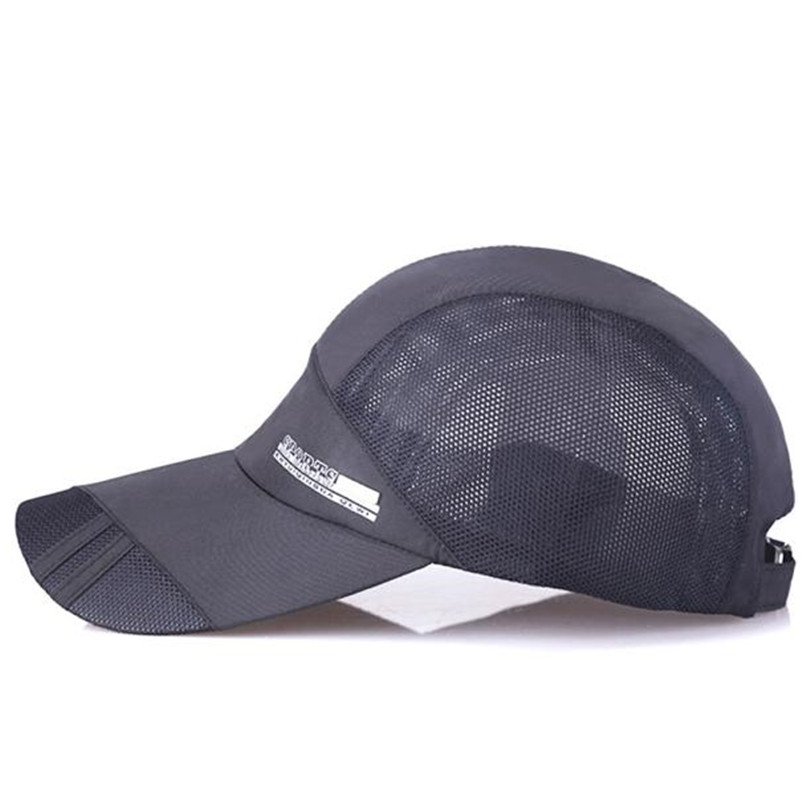 2018 Cotton Elastic Fitted Hats Sunscreen Baseball Cap Men Or Women Quick-dry Collapsible Baseball Cap 6 Color P4 Relieving Heat And Thirst.