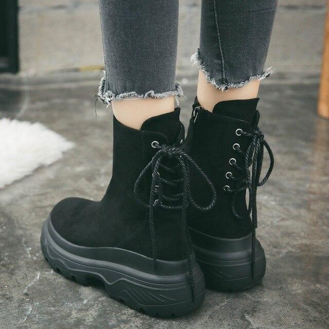 Retro Martin Boots Women S Winter Boots 2019 New Short Boots Autumn