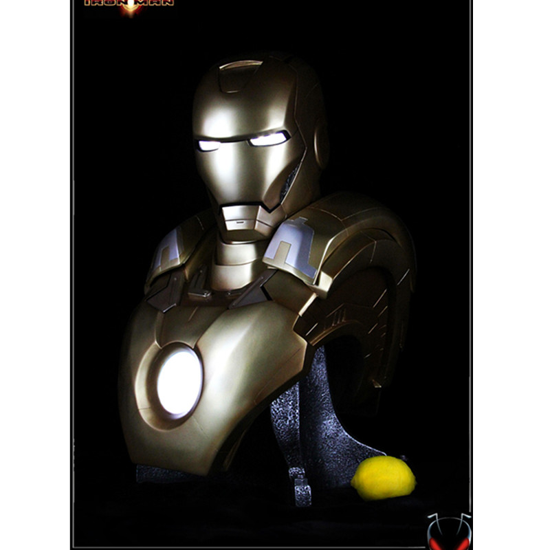 Presale The Avengers 4 Iron Man Luxury Gold Color Superhero GK Statue Collection Model Toy (Delivery Period:60Day) M1109Presale The Avengers 4 Iron Man Luxury Gold Color Superhero GK Statue Collection Model Toy (Delivery Period:60Day) M1109