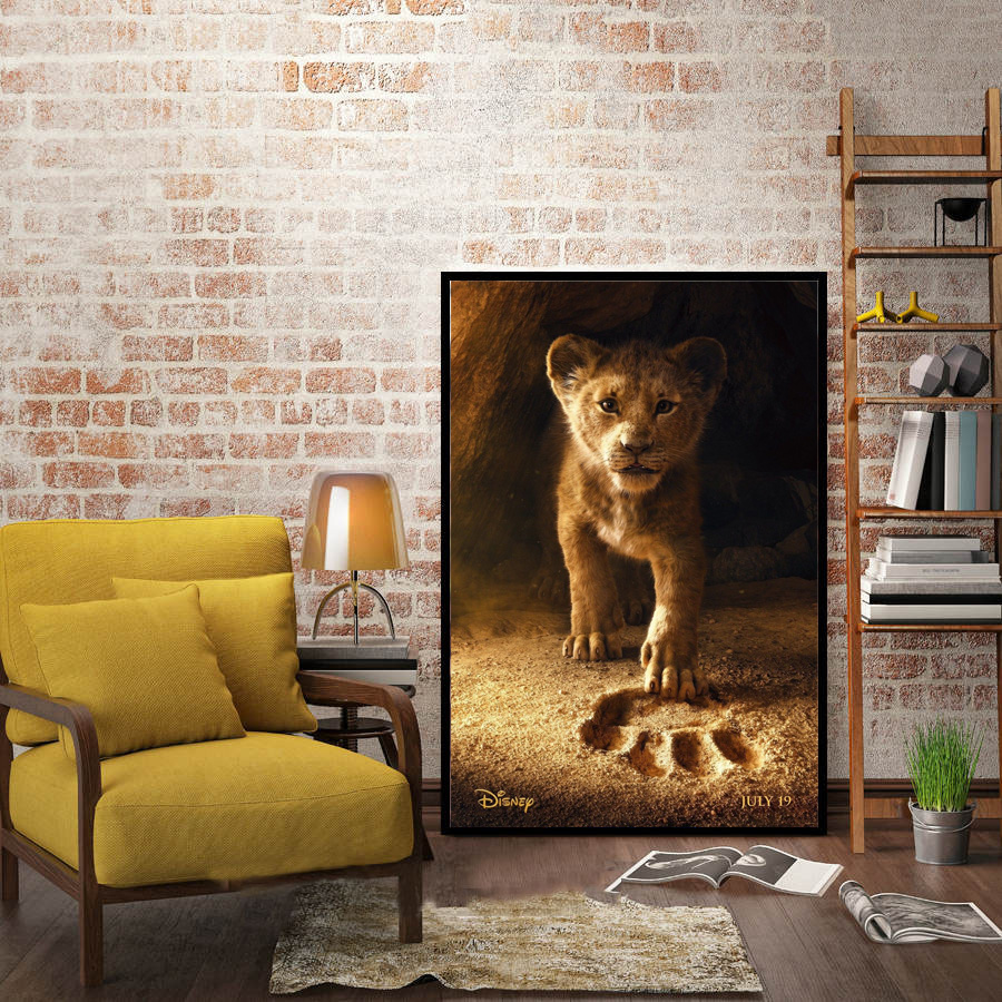 the lion king 2019 movie film cartoon poster and prints wall art painting canvas wall pictures