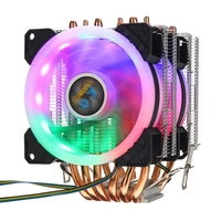 6 Heatpipe Cpu Cooler Fan 3 Line Rgb Led Cooling Fan Quiet Heatsink Radiator For Intel 775/1150/1151/1155/1156/1366 For Amd Al