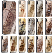 imitative Wood Vintage Style Tempered Glass phone case for X