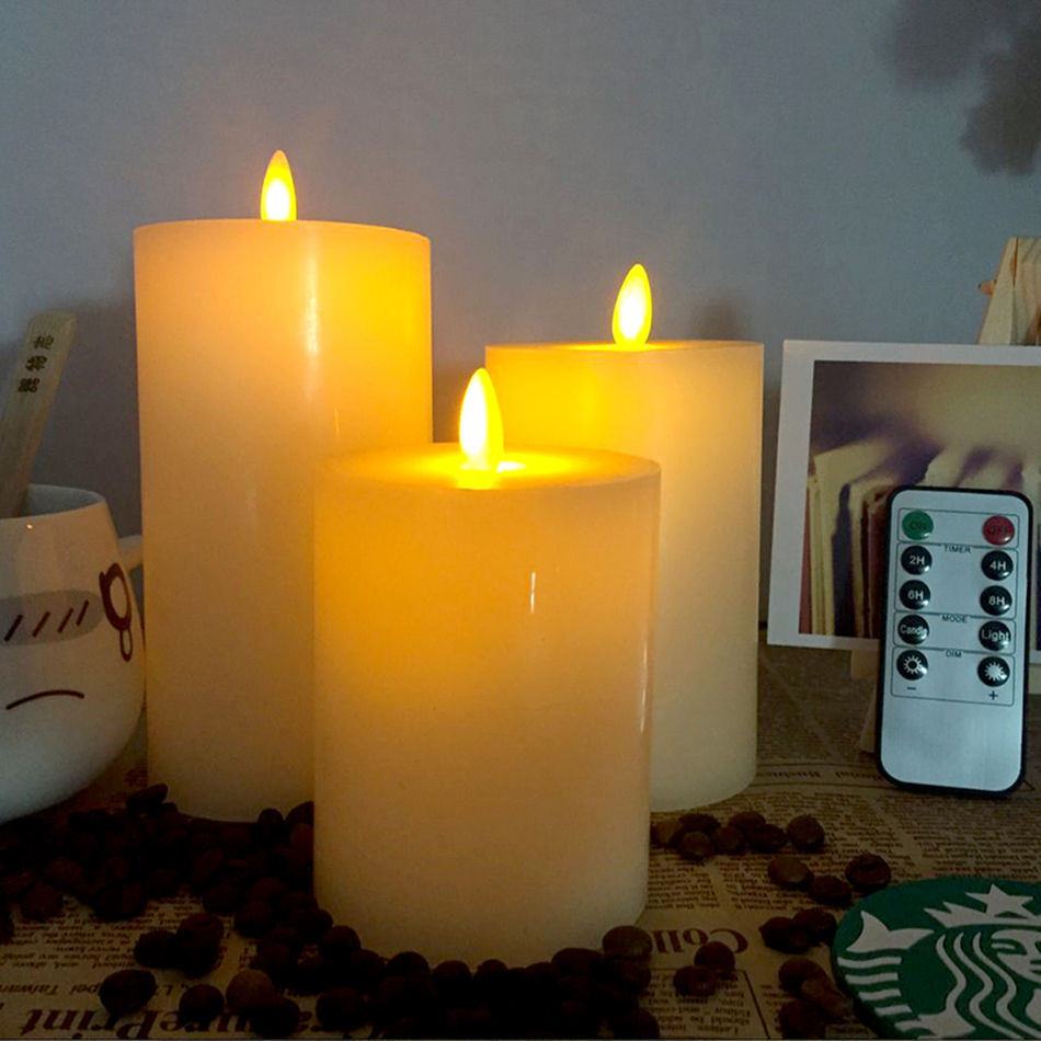 Wireless Timing Remote Control Flameless Led Wax Candle