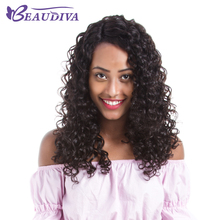 BEAUDIVA Brazilian Curly Wigs With Baby Hair Pre Plucked Full Lace Human Hair Wigs For Black