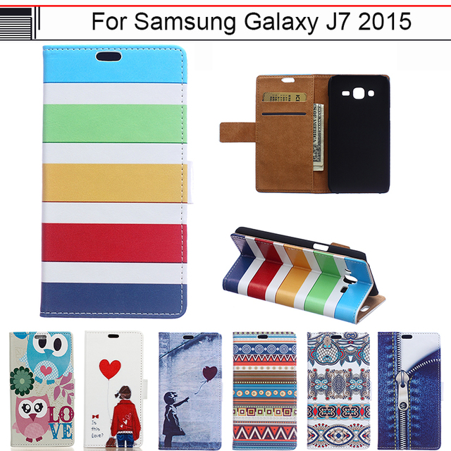 Case for Samsung Galaxy J7 J 7 2015 SM-J700M SM-J700h SM-J700M/DS SM J700M J700H J700H/DS J700M/DS leather Flip Cover Phone Case