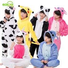 e7ec591cf0 Navidad pijamas niños niñas pijama de Onesie Cosplay Animal Totoro  unicornio Pikachu dinosaurio Panda pijama enfant