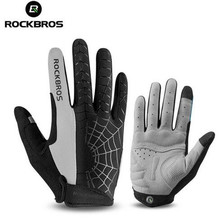 ROCKBROS Cycling Winter Gloves Bicycle Touch Screen Sport MTB Full Finger Anti-Slip Shockproof Motorcycle