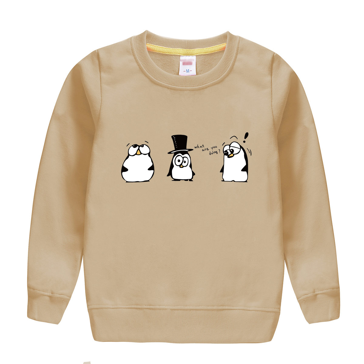 "HTB1vCq.fsnI8KJjSspeq6AwIpXaA - ""what are you doing""pattern printed 2017 new fashion cotton sweatshirt , keeping warm and Non-fading , design for children"