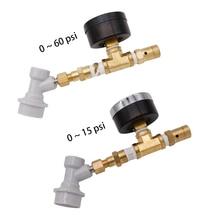 Válvula spunding do fechamento da bola com calibre ajustável conjunto da válvula de alívio pressão com calibre cerveja equipamentos