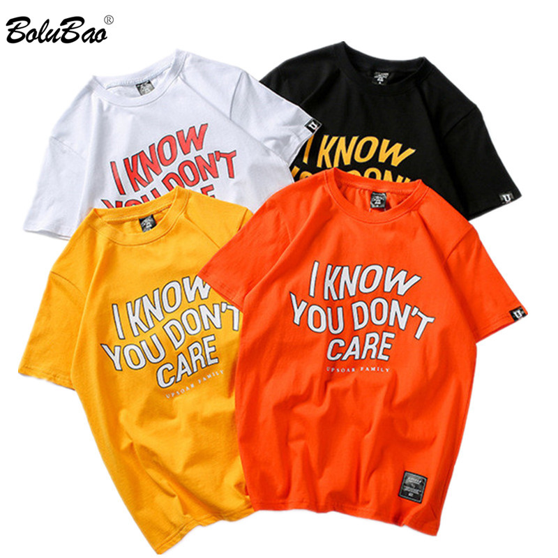 BOLUBAO New Fashion Men   T  -  Shirt   2019 Summer Letter Printing Men's   T     Shirt   Hip Hop Street Clothing Men Tee   Shirt   Top