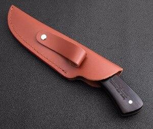 Image 5 - Stal wysokowęglowa wzór damasceński ostrze stałe nóż myśliwski ostry ręcznie kute ostrze Camping Tactical Survival narzędzie ratunkowe