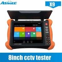 Лучшее качество 8 дюймов Многофункциональный CCTV Wi Fi ip камера тестер с 8MP CVI/8MP TVI/5MP AHD для X9 CCTV тестер