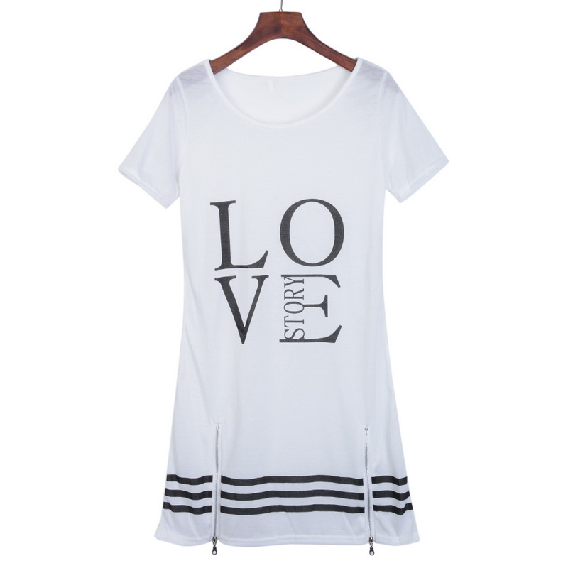 Laamei Summer O Neck Long T Shirt Dress Women Letter Print Dresses Short Sleeve Casual Loose Laamei Summer O-Neck Long T-Shirt Dress Women Letter Print Dresses Short Sleeve Casual Loose Streetwear Sundress Plus Size S-5XL