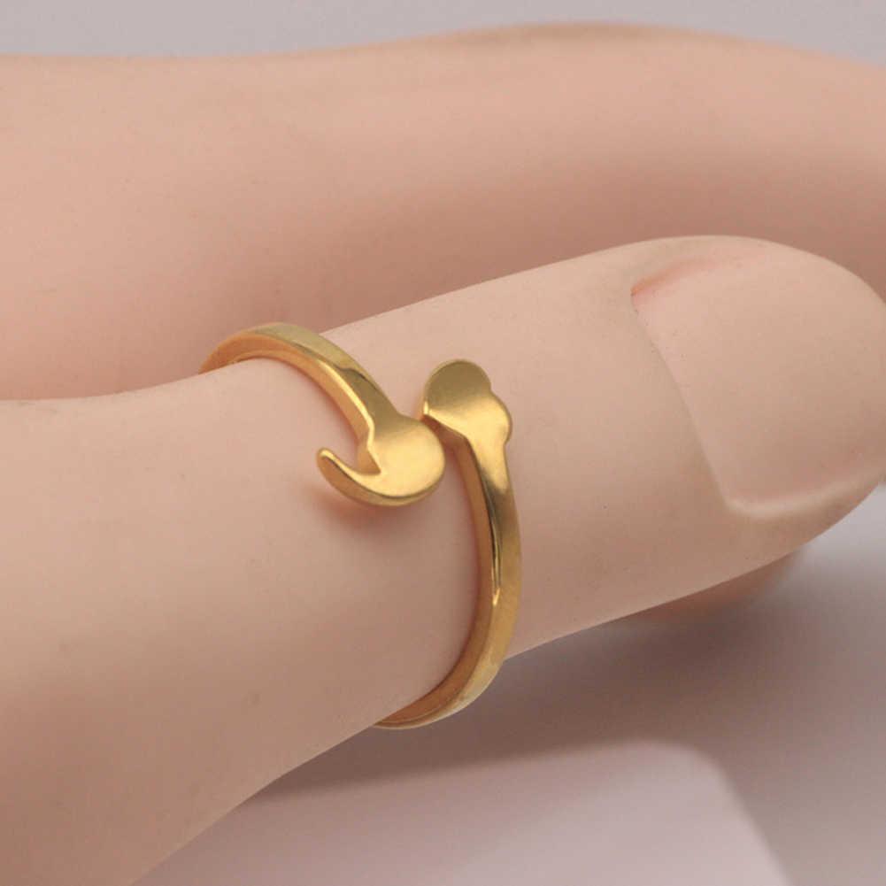 Semicolon แหวนสำหรับสาวปรับแหวน Mental Health แหวนเครื่องประดับแรงบันดาลใจสแตนเลสจบการศึกษานักเรียน
