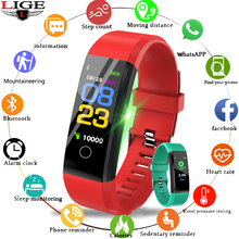 2109 LIGE New Smart Bracelet Activity fitness Tracker IP67 Waterproof Sport Wristband Heart Rate Monitor watch