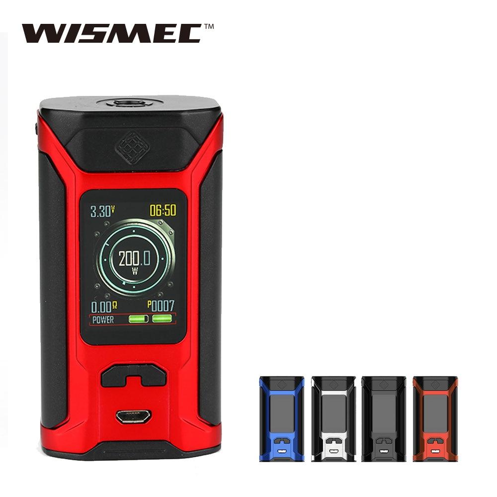 Оригинальный wismec извилистые RAVAGE230 200 Вт TC поле MOD Max 200 Вт огромный Мощность без 18650 Батарея E-сигареты Vape поле Mod Vs перетащите Mod/RX200S