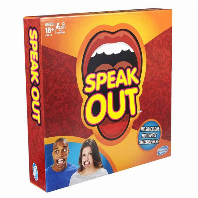 Speak Out Game 27*27*5.5cm 1 Pcs/Set Board Game Interesting interesting toy Party and Family Game Free shipping Dianxia