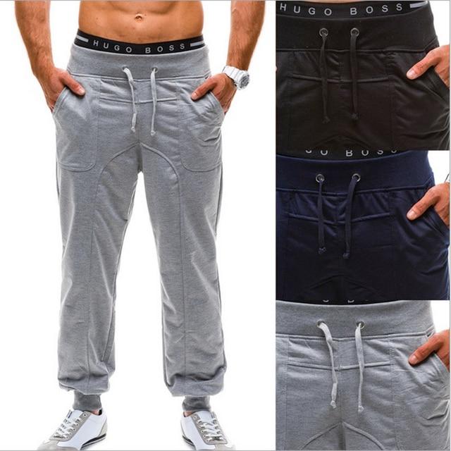 2016 Pantalones harem ocasional de Los Hombres holgados Joggers sweat Pants Pantalones Deportivos masculinos Pantalones de color Sólido, además de terciopelo pantalones de los hombres del homme