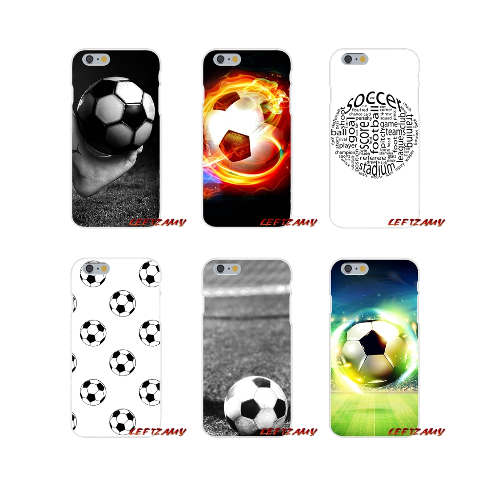 For iPhone X 4 4S 5 5S 5C SE 6 6S 7 8 Plus football soccer ball design Accessories Phone Cases Covers