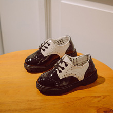 2016 Boys & Girls England Style Leather Shoes Brand Children Lace-Up Casual Shoes Rubber Bottom Spring Shoes for Kids,RJ448