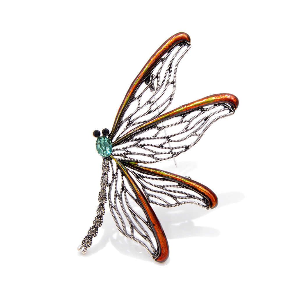 Cindy Xiang Baru 3 Warna Memilih Besar Enamel Kupu-kupu Bros untuk Wanita Vintage Hollow-Out Serangga Elegan Bros pin