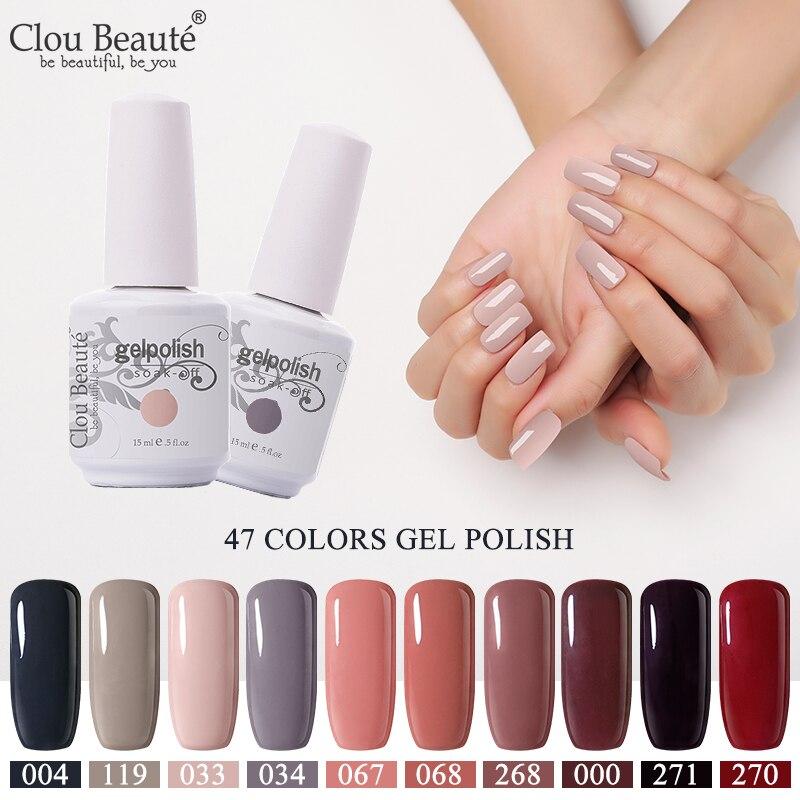 Clou Beaute Semi Permanent UV Varnish Gel Polish 10ml Nude