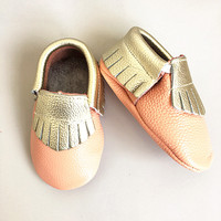 Hot sales genuine leather baby shoes first walkers the design mixed colors toddler baby moccasins fringe.jpg 200x200