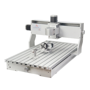 Image 2 - 80mm ציר מנוע מהדק התאסף CNC 6040 מסגרת עם סיבובי עבור נגרות נתב מכונת אלומיניום מתכת חרט