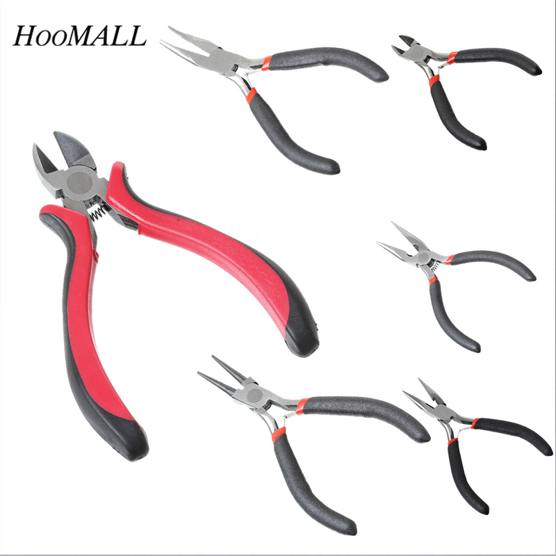 Hoomall Wire Stripper Hand Tools 11cm 12.5cm High Quality Pliers Multifunction Black Handle 3 Types Pliers Cutting Multi Tools doersupp 1pcs blue red non slip handle breaking cutting glass pliers stained glass tools flat end pliers hand tools