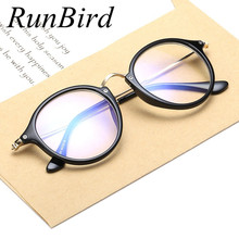 RunBird 2016 Round Eyes Glasses Frame Women Myopia Eyeglasses Frame Men Computer Vintage Plain Glasses Lunettes De Soleil R538