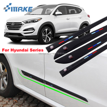 smRKE Car-styling 4pcs High Quality Brand New Side Doors Rubber Bumper Protector Guard Scratch Sticker Trim For Hyundai Vehicle