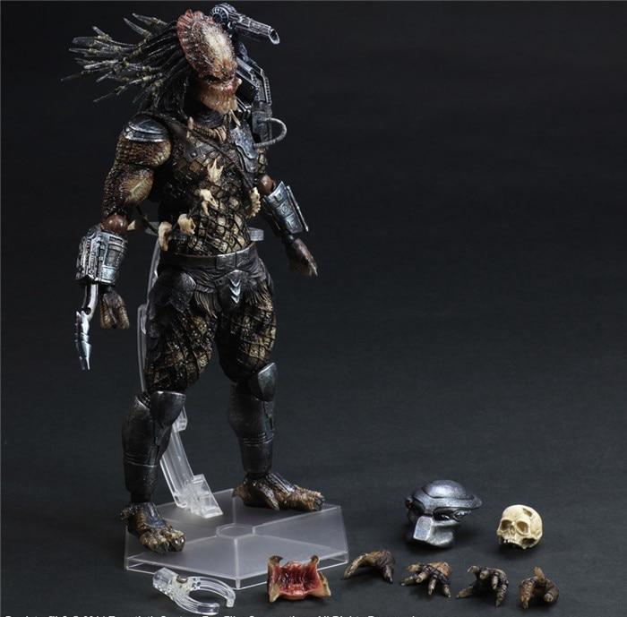 Play Arts Kai Predator Figure  Alien Hunter Primevil Figure PA 25cm PVC Action Figure Doll Toys Kids Gift