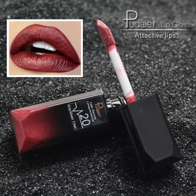 pudaier 21 Colors Matte Liquid Lip Gloss Waterproof 24 Hours Long Lasting Velvet Lipstick Makeup Cosmetics