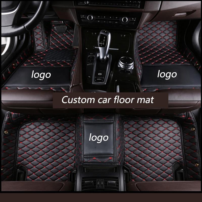 Kalaisike Personnalisé tapis de sol de voiture pour Audi tout modèle A1 A3 A8 A7 Q3 Q5 Q7 A4 A5 A6 S3 S5 S6 S7 S8 R8 TT SQ5 SR4-7 style de voiture