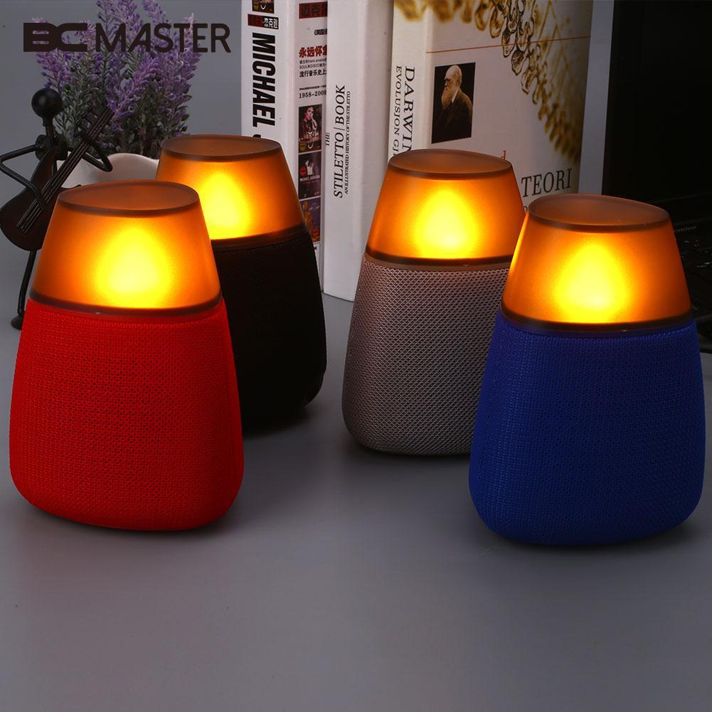 Universal Wireless Bluetooth Speaker Loudspeaker Bedroom Office Nightlight Plastic Support TF Card with Light 2in1 wireless bluetooth speaker