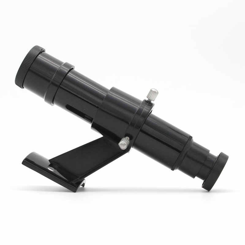Domilay Astronomical Telescope Finderscope Optical with Sight Bracket Crosshair Black No Monocular 5X24