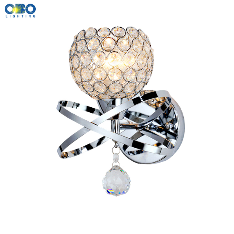 Modern Crystal Foyer Wall Lamp Silver/Gold Bedroom Bedside Indoor Lighting E27 Lamp Holder 110-240V Free Shipping Modern Crystal Foyer Wall Lamp Silver/Gold Bedroom Bedside Indoor Lighting E27 Lamp Holder 110-240V Free Shipping