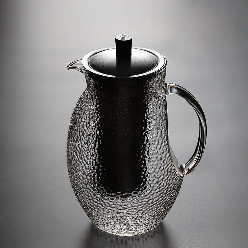 Стекло чайник воды Стекло чайник фильтр из нержавеющей стали высокая термостойкость бытовой чайник ch-13