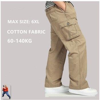 цена на Modis Black Cargo Pants Men Pantalon Homme Calca Masculina Plus Size 5XL 6XL Khaki Military Tactical Kargo Pantolon Trousers