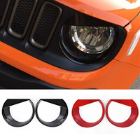 2016 Newest Angry Bird Head Lights Trim Lamp Cover Frame Case For Jeep Renegade Headlights Ring