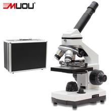 40X-1600X Профессиональный Биологический Микроскоп USB Вверх и Вниз Светодиодов Студентов Образовательных Наука Лаборатория Монокуляр Микроскоп Металла