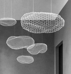 Image 5 - Nordic Art Hollow Cloud Design Pendant Lights Creative Bedroom Hotel Hall Restaurant Bar Designer Firefly Led Lighting Fixtures