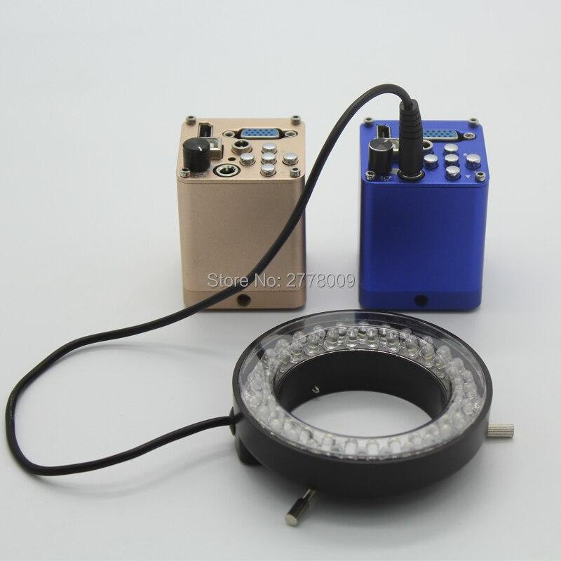 HD 1080P 1920x1080 40FPS HDMI VGA USB Digital Industrial Microscope Camera with Adjustable LED Ring Light
