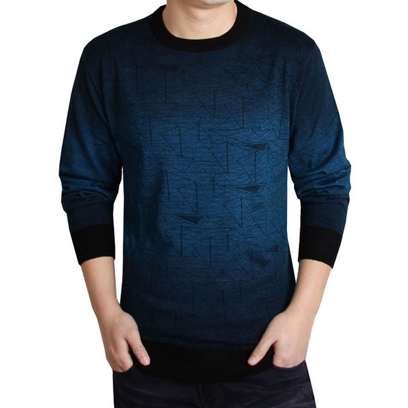 New Fashion Men Brand Clothing Print Hang Pye Casual Shirt Pullover Men Pull O-Neck Sweaters
