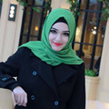 20 цветов толстая bubble шифон шелковый платок шарф бандана головной убор платок Мусульманин хиджаб исламский абая женщин wrap caps cq979