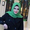 20 colores de la burbuja gruesa bufanda chal de gasa de seda abaya cubrirse la cabeza bandana pañuelo Musulmán hijab islámico mujeres wrap caps cq979