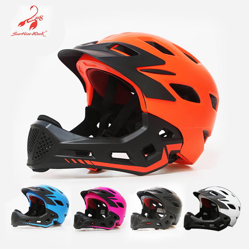 2019 Kids Full Covered Cycling Helmet Child Full Face race downhill Bicycle Helmet MTB Road Bike