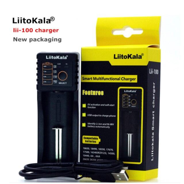 Liitokala Lii-PD4 S1 ładowarka baterii LCD, ładowanie 18650 3.7V 18350 18500 21700 20700B 10440 26650 1.2V AA AAA NiMH baterii