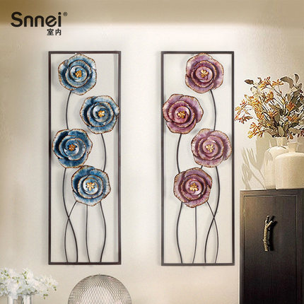 Three dimensional Iron ornaments Creative Bedroom wall decorations modeling