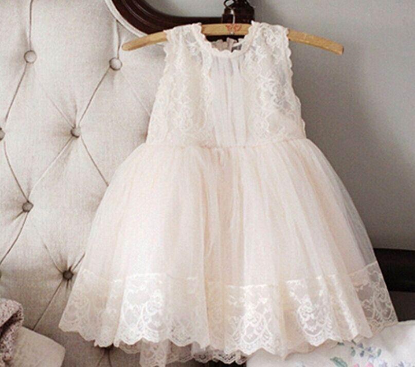 Wholesale Princess Dress for Girls Sweet Lace Gauze Summer Sundress Children Clothing 2 8T E3122